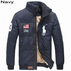 Ralph Lauren Winter Jackets ralph lauren men full-zip usa flag big pony quilted down jacket navy usa QRNWWGP