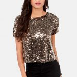 Combine sequin tops in style