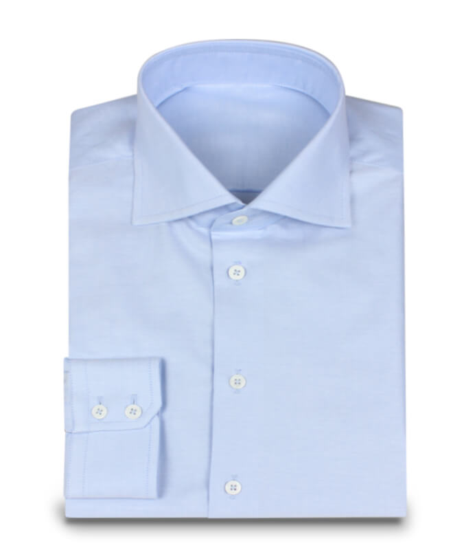 Shark Collar Shirts shark collar shirt in oxford light blue LOIKCWC