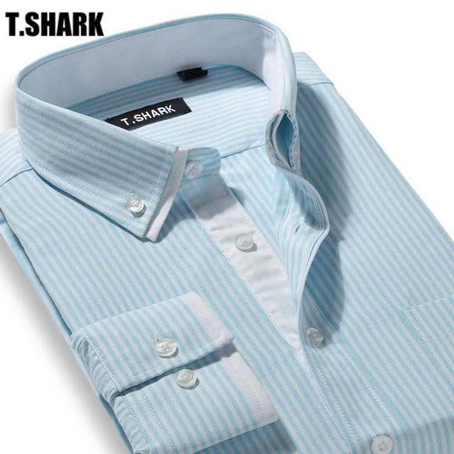 Shark Collar Shirts t.shark mtsl-xx 2016 double collars striped long sleeve casual dress high  quality TOCBQKN