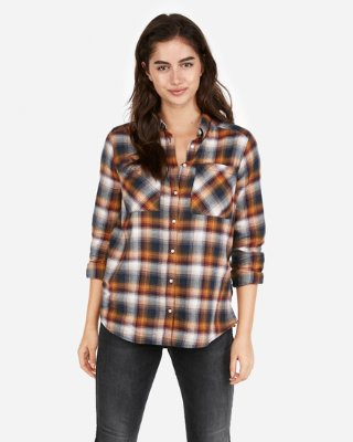 Shirt for women express view · plaid flannel boyfriend shirt VWEGABB