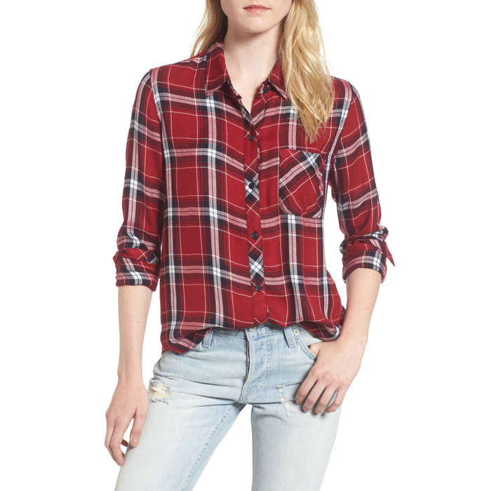 Shirt for women rails hunter plaid shirt QMDRUSH