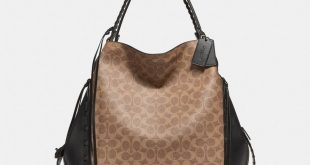 Shoulder Bags edie shoulder bag 42 in signature canvas with whipstitch ... DZUHXMZ