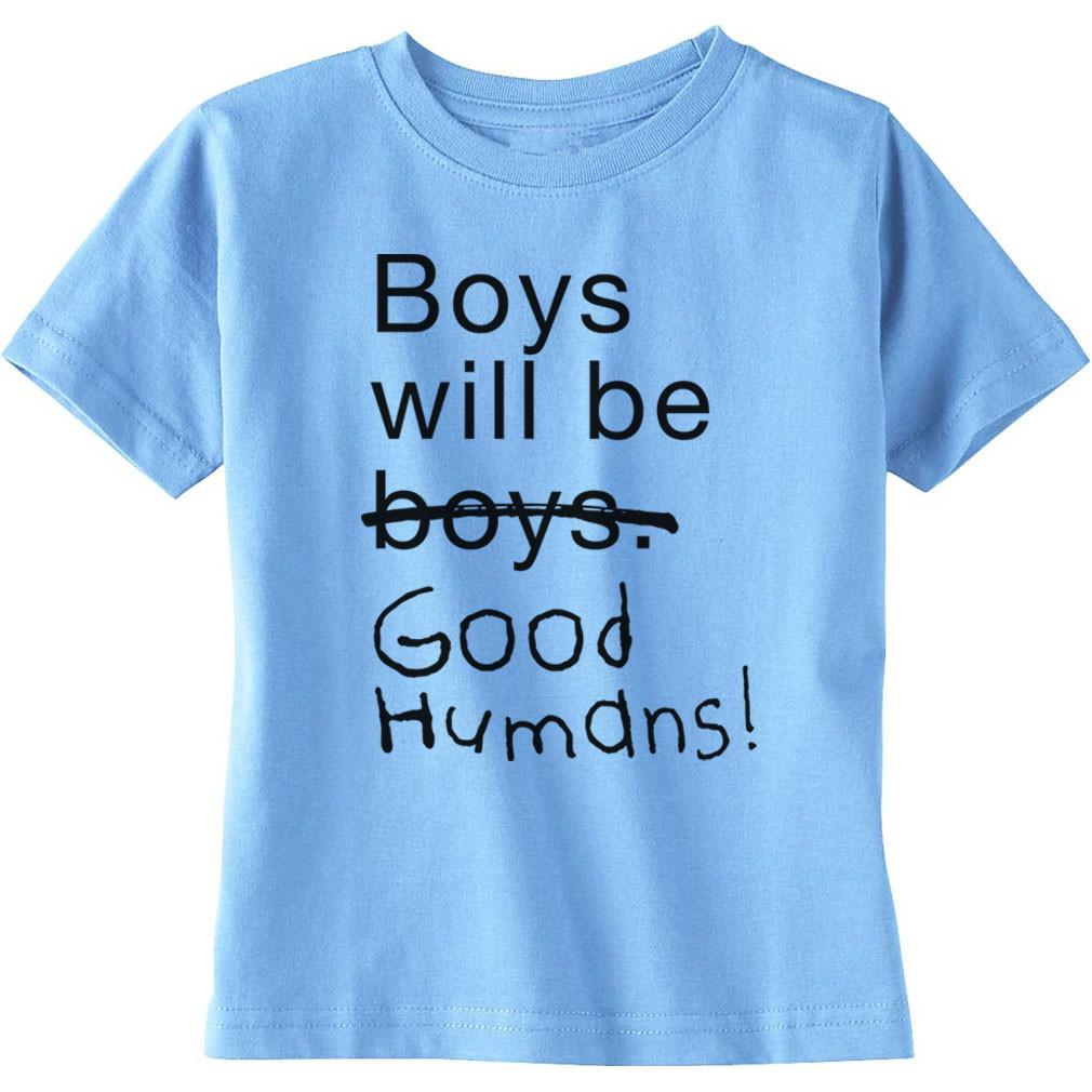 T-shirts for boys boys will be good humans (tm) baby / kids t-shirt FCJXPTY