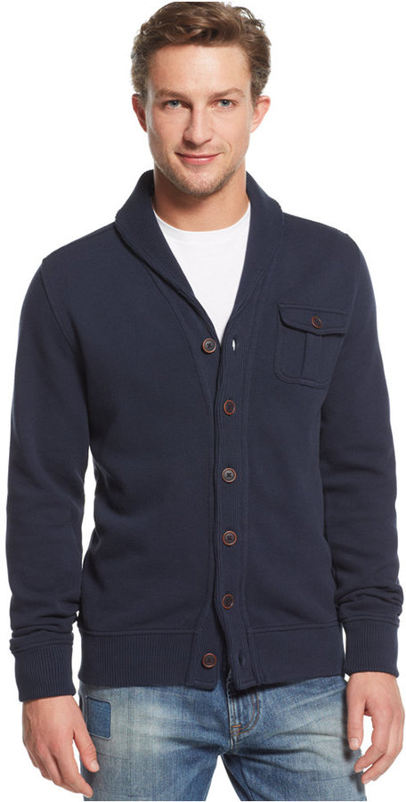 Tommy Hilfiger cardigans ... tommy hilfiger kevin shawl collar cardigan sweater euro DHMJCGE
