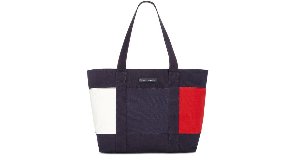 Tommy Hilfiger purses lyst - tommy hilfiger flag tote in blue - save 41.02564102564103% ECUGNOM