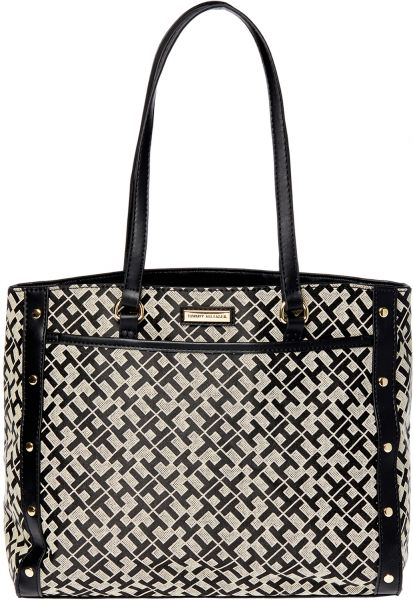 Tommy Hilfiger purses tommy hilfiger bag for women,black u0026 beige - tote bags NGOHXMC