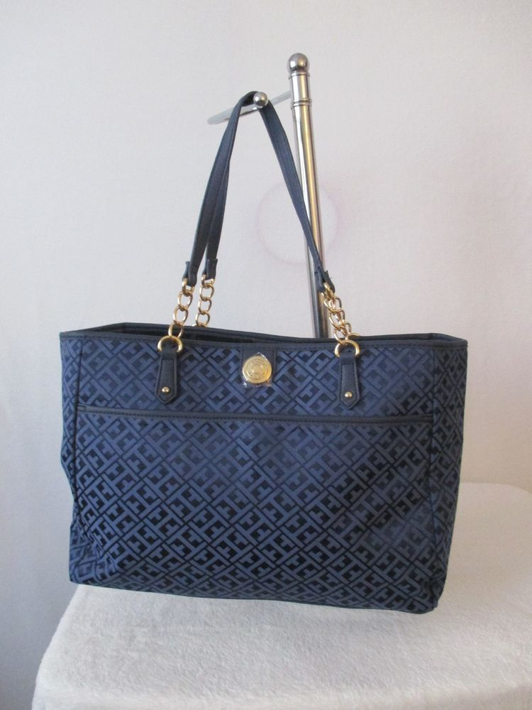 Tommy Hilfiger purses tommy hilfiger handbags tote 6932683 478 color blue gold retail $ 99.00u2026 BKVISOB