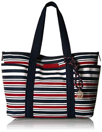 Tommy Hilfiger purses tommy hilfiger tote bag for women dariana, navy / red ZIDOSUQ