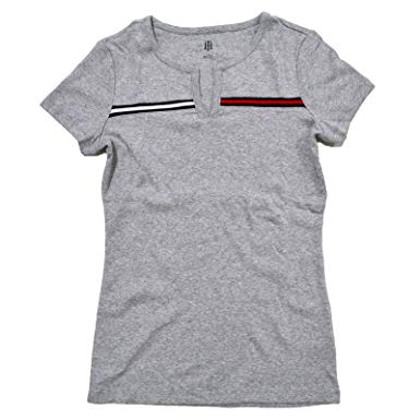 TOMMY HILFIGER SHIRTS FOR WOMEN tommy hilfiger womens split-neck t-shirt (gray, x-small) LULFPLC