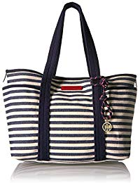 TOMMY HILFIGER SHOULDER BAGS canvas tote bag for women dariana JYVNIFH