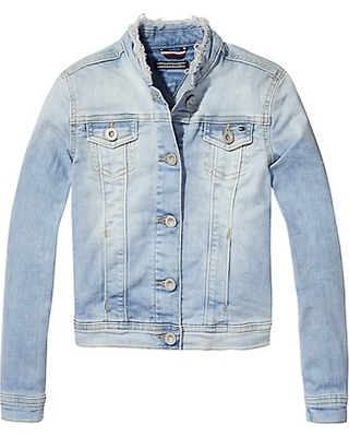 TOMMY HILFIGER TRANSITIONAL JACKETS tommy hilfiger th kids stretch denim jacket - 911 - 4 NMFPQSL