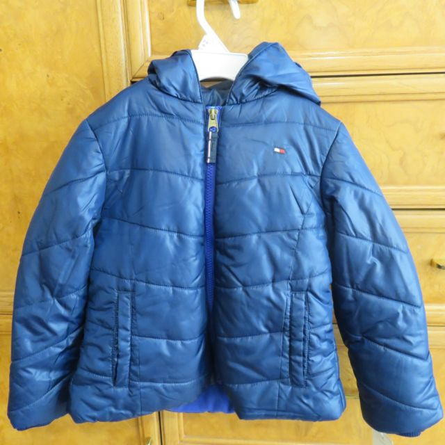TOMMY HILFIGER WINTER COATS girl/ boy tommy hilfiger puffer jacket winter coat blue size 5 with hood  nwt $80 LENGMSR