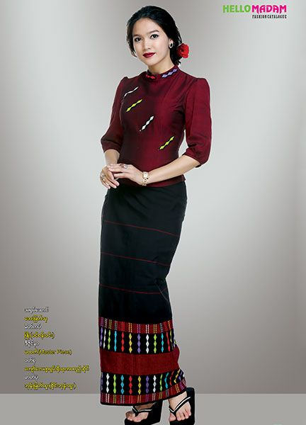 Traditional fashion myanmar traditional dress | hello madam catalogue | myanmar silk, myanmar  silk style, myanmar traditional, OSFKFBK