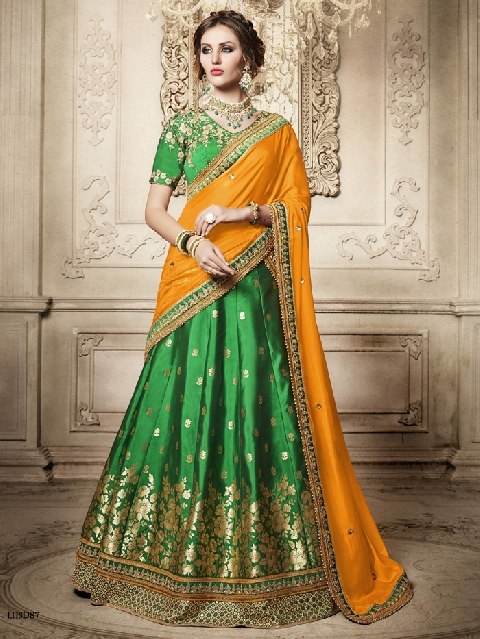 Traditional fashion traditional fashion designer lehenga choli semi stitched | bargainklick.com ONWBNPQ