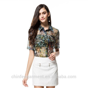 Transparent Blouses ladies summer women transparent blouses tops VWXNFGC