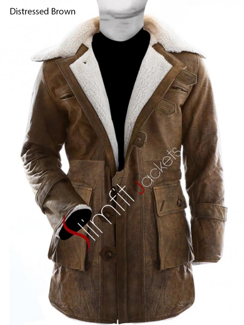 Trench coats for men and women dark knight rises replica bane fur trench coat men/women LQASIBE