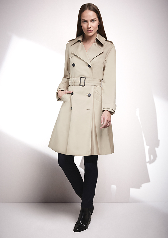 Trench coats, design and style icon
