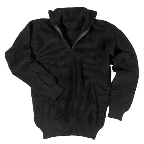Troyer Sweater mil-tec® troyer sweater with collar black acrylic UCQVDDZ