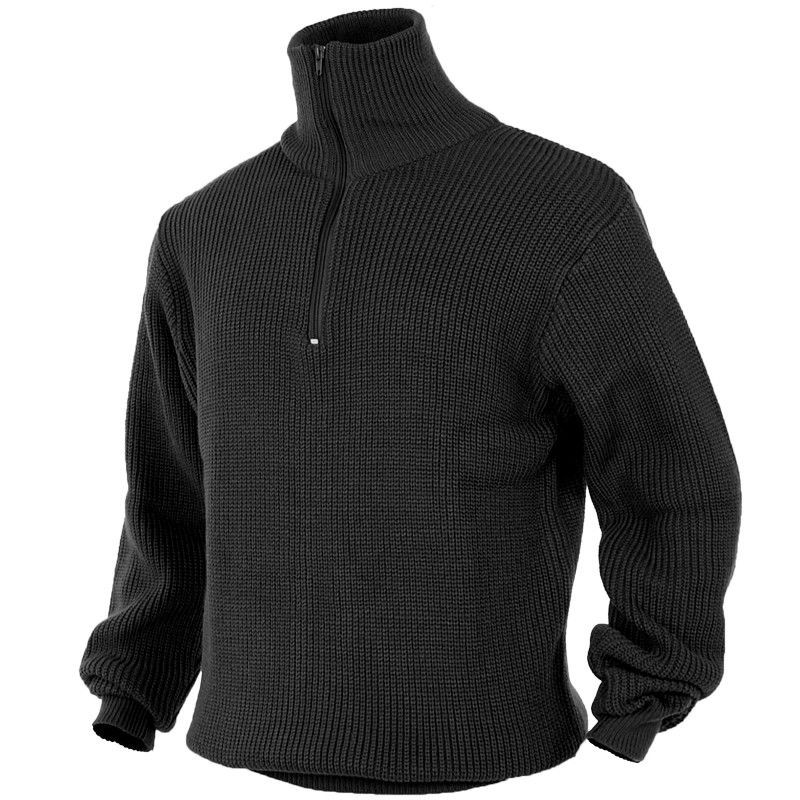 Troyer Sweater ... mil-tec troyer sweater black ... ZTSSRKM