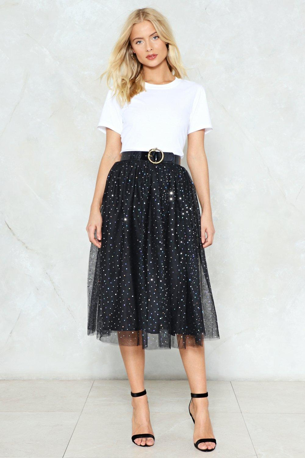 Tulle Skirts rise and sparkle sequin tulle skirt QYEVVFP