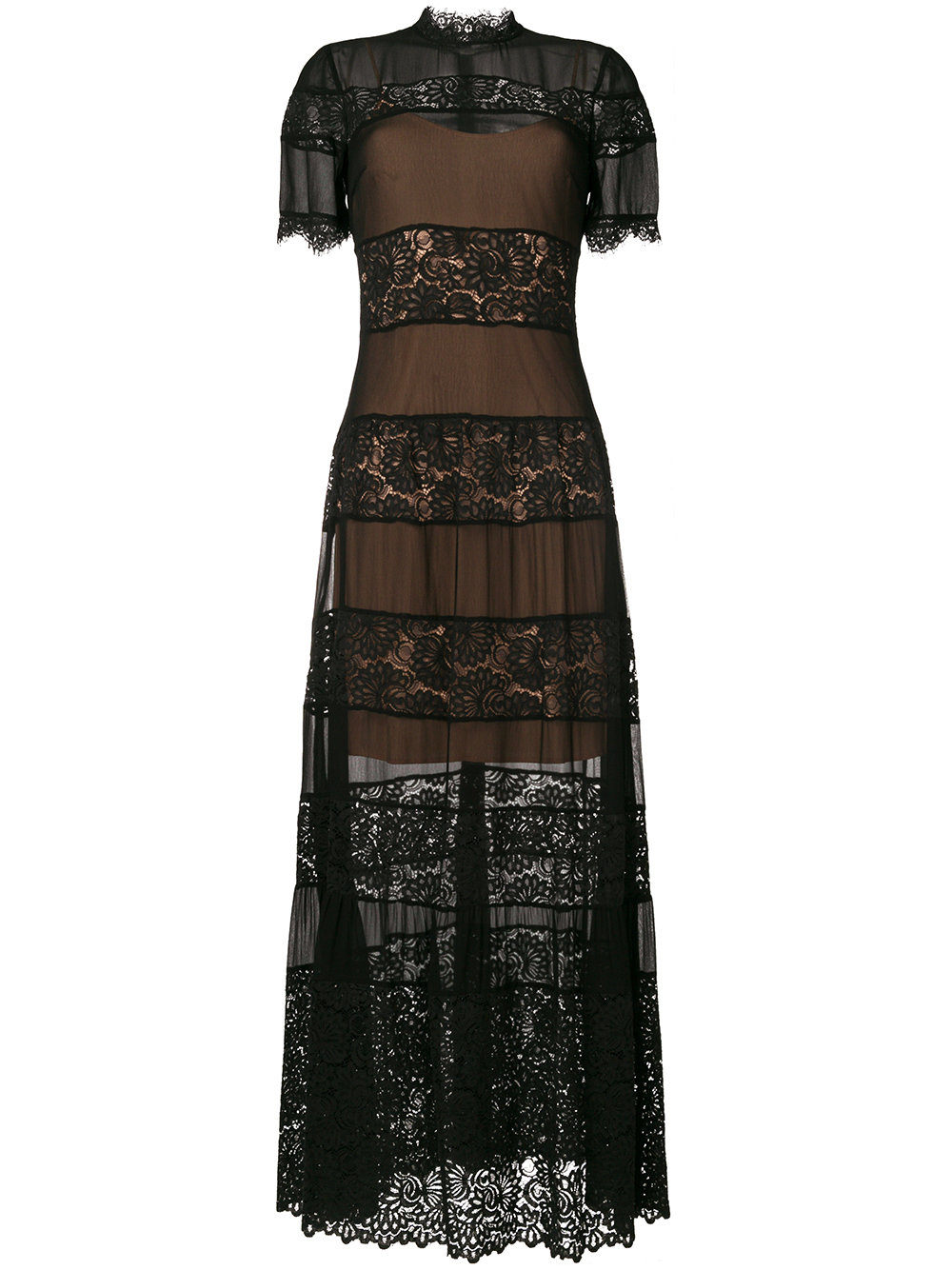 TWIN SET DRESSES twin-set lace detail dress black 00006 women designer fashion,twin set  dresses online,new york IFFRQYD
