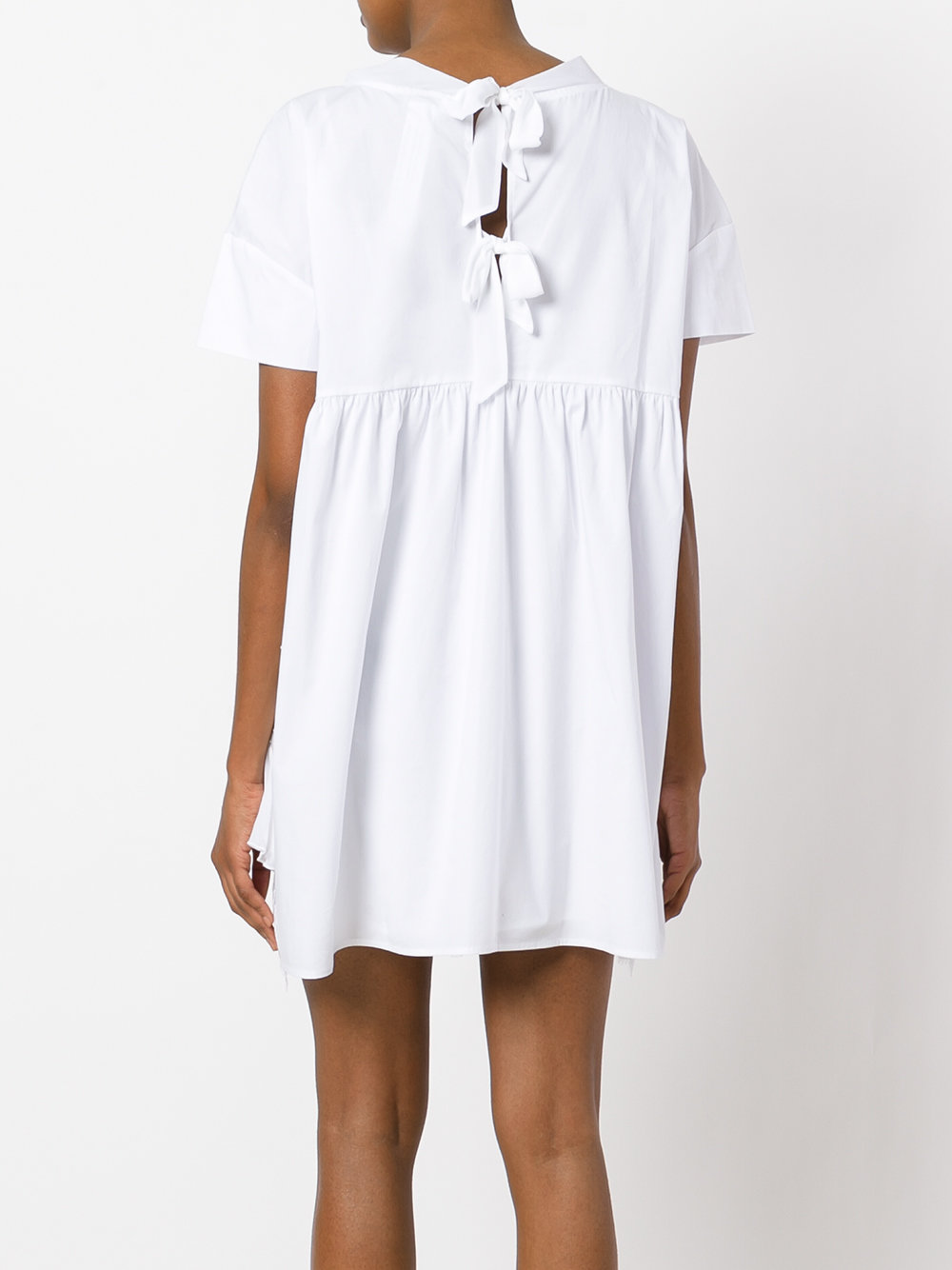 Twin set in the outlet ... twin-set pleated trim lace dress 001 bianco ottico women clothing day  dresses,twin ... DLBHIKJ