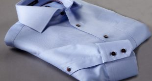 Two Ply Shirts ice blue two-ply gabardine limited edition dress shirt ZWOHCYW