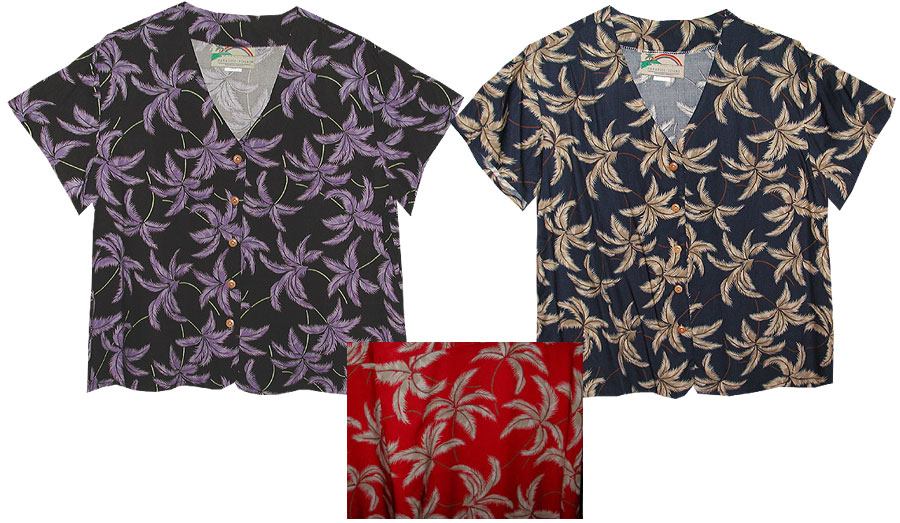 typhoon BLOUSES typhoon hawaiian aloha blouse WHXLGXP