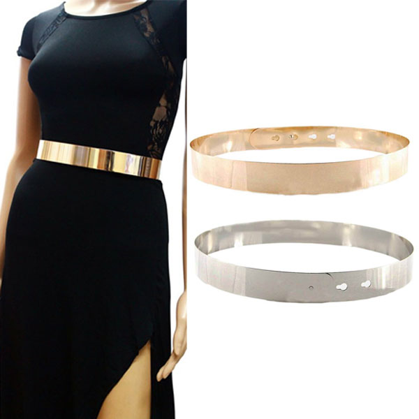 Waist Belts for women detail image. women high waist metal mirror belt ... IQGXOIA
