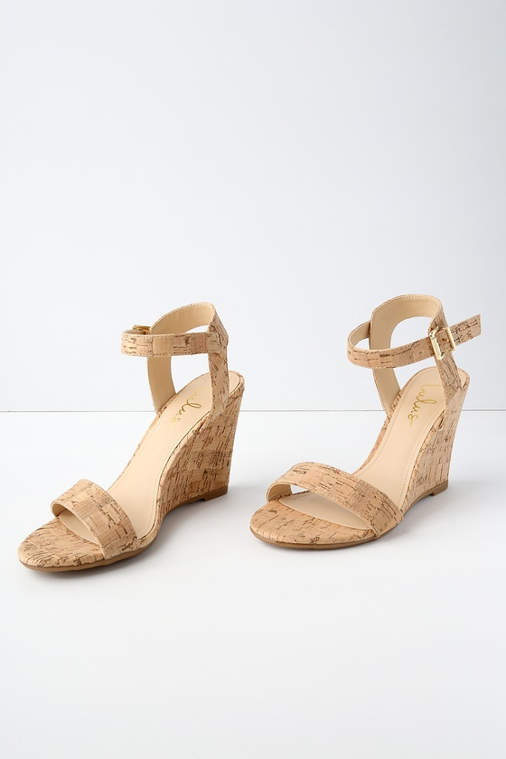 Wedge Sandals whitney cork wedge sandals HAXZRGZ