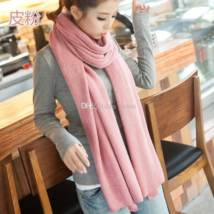Winter scarves for women fashion wool winter scarf simple solid color casual shawls and scarves women  and PSNZNYQ