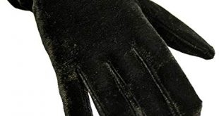 Women's Gloves black velvet wrist length womens gloves NZDGCPX