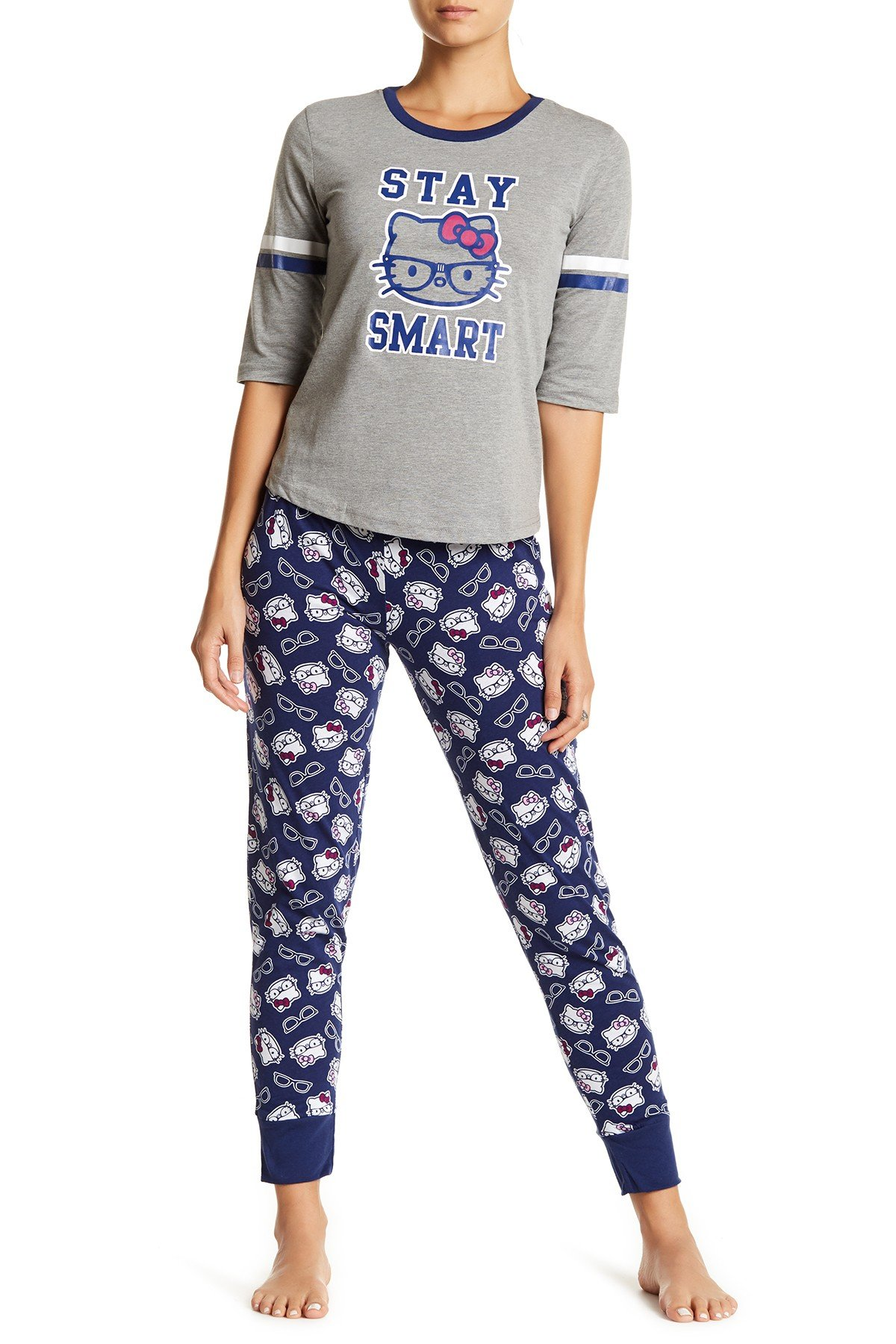 Women's Pajamas hello kitty - smart kitty 2-piece pajama set BUEDNFI
