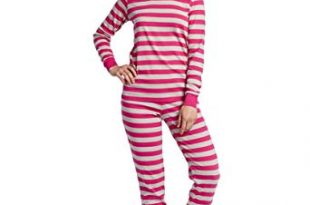 Women's Pajamas leveret womens fitted striped 2 piece pajama set 100% cotton (x-small, OJPUQWG