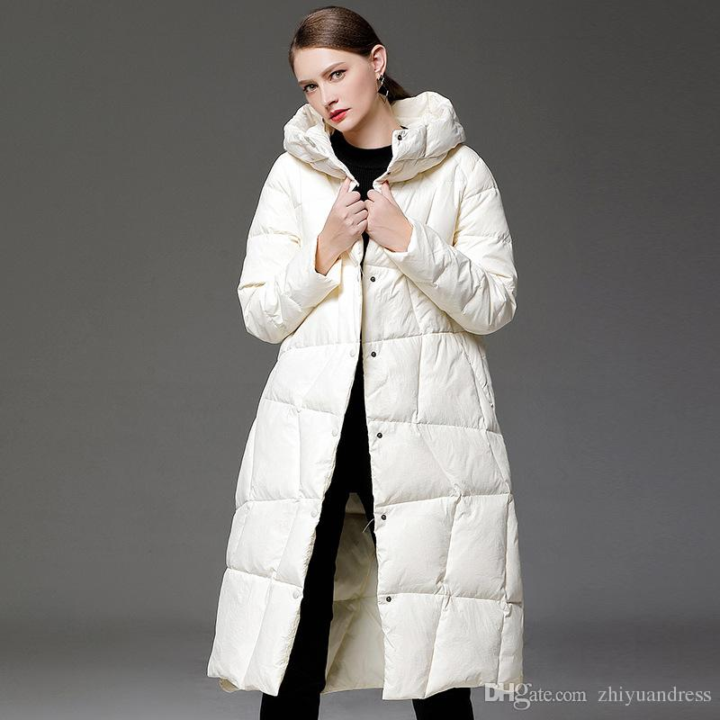 women's winter down coats 2018 2018 white long thick womens down jackets down parkas women winter  coats QIGBHNP