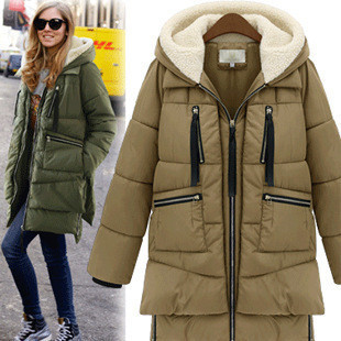 women's winter down coats down coat women winter long 2015 hot korea wide waisted zipper loose warm UTZRPTJ