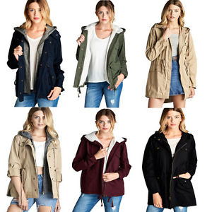 womens jackets styles image is loading womens-all-season-utility-jacket-with-hoodie-3- ASZNROL