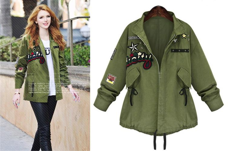 womens jackets styles teenage girls streetwear jacket, ladies army green coat, 2016 spring new  style fashion, KSCQDUA