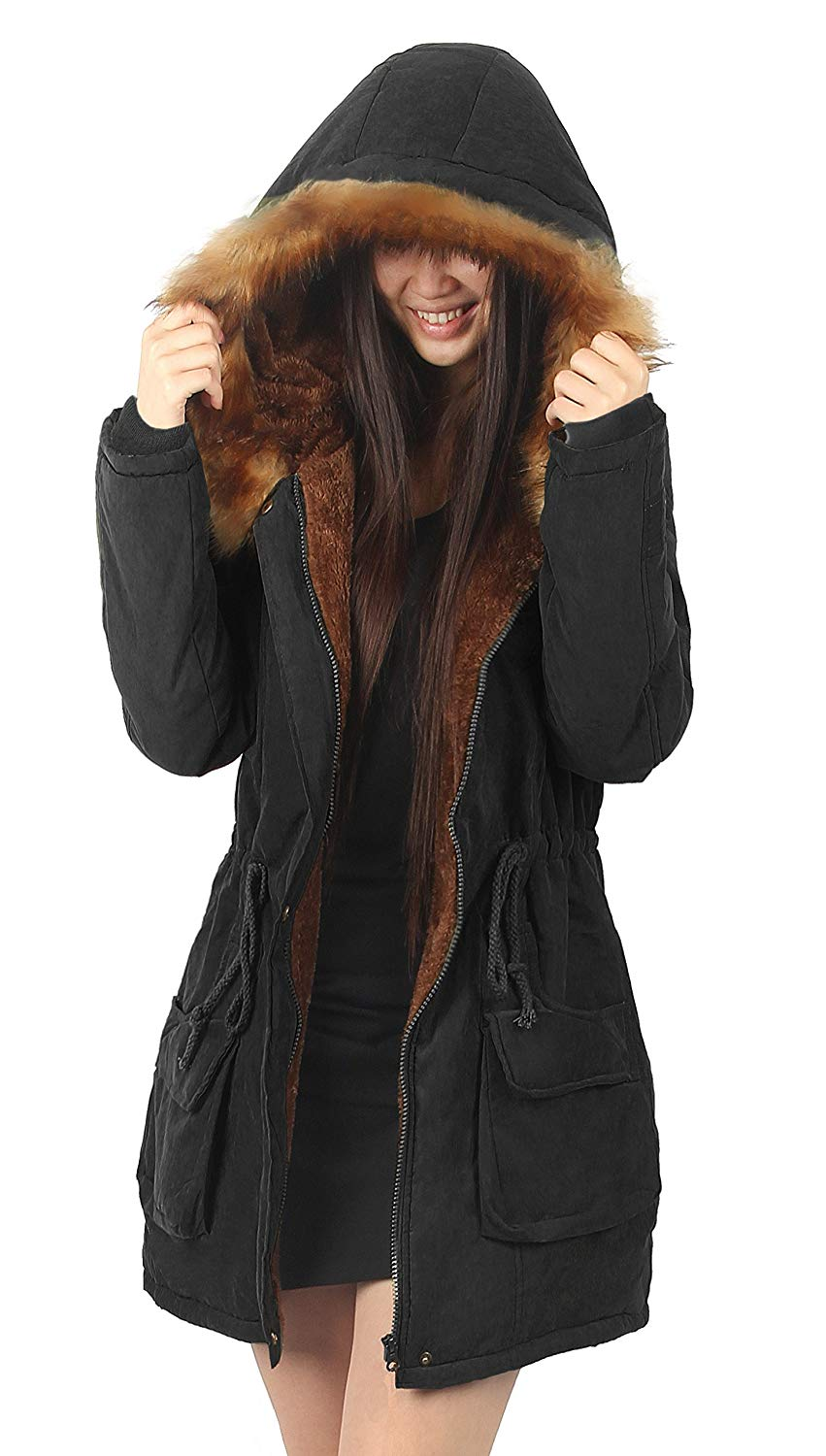 womens parka coats with fur hood amazon.com: ilovesia womens hooded warm coats parkas with faux fur jackets:  clothing EJPHPRY