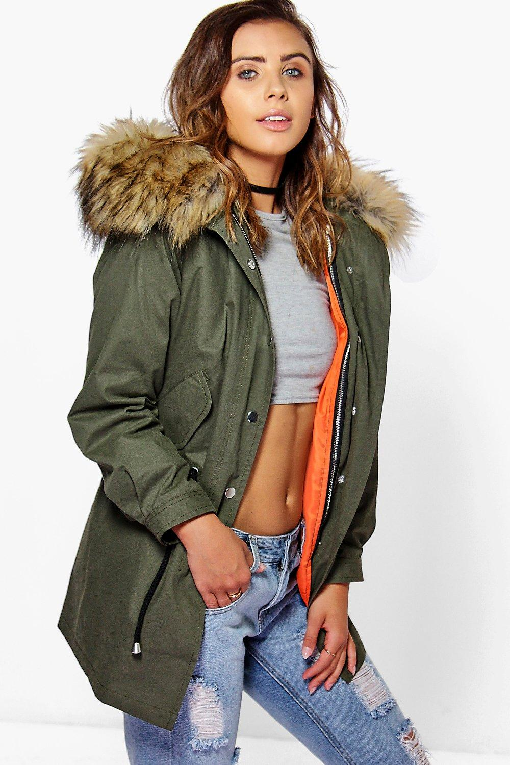 womens parka coats with fur hood ... parka with faux fur hood. hover to zoom SCTZMWQ