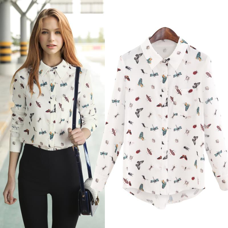 Womens Print Shirts compare prices on printed blouse for women- online shopping/buy . ESRSXYN