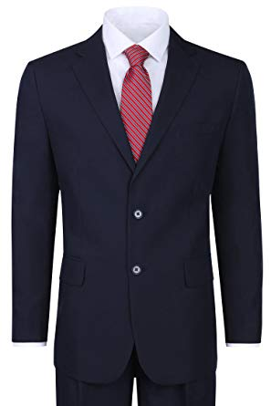 Men's Classic 2 Button Suit - Navy, 38 Regular