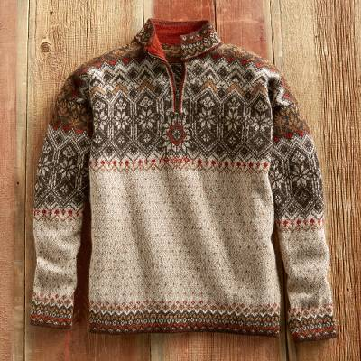 Grecas Men's Grecas Alpaca Sweater
