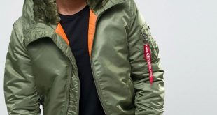 ... Alpha Industries Ma 1 Bomber Jacket With Hood In Regular Fit Sage Green  ...