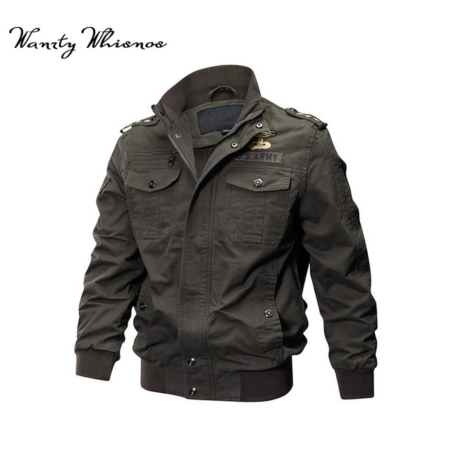 Wholesale Military Pilot Jackets Men Winter Autumn Bomber Cotton Coat  Tactical Army Jacket Male Casual Air