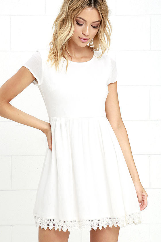Wholehearted Off White Babydoll Dress