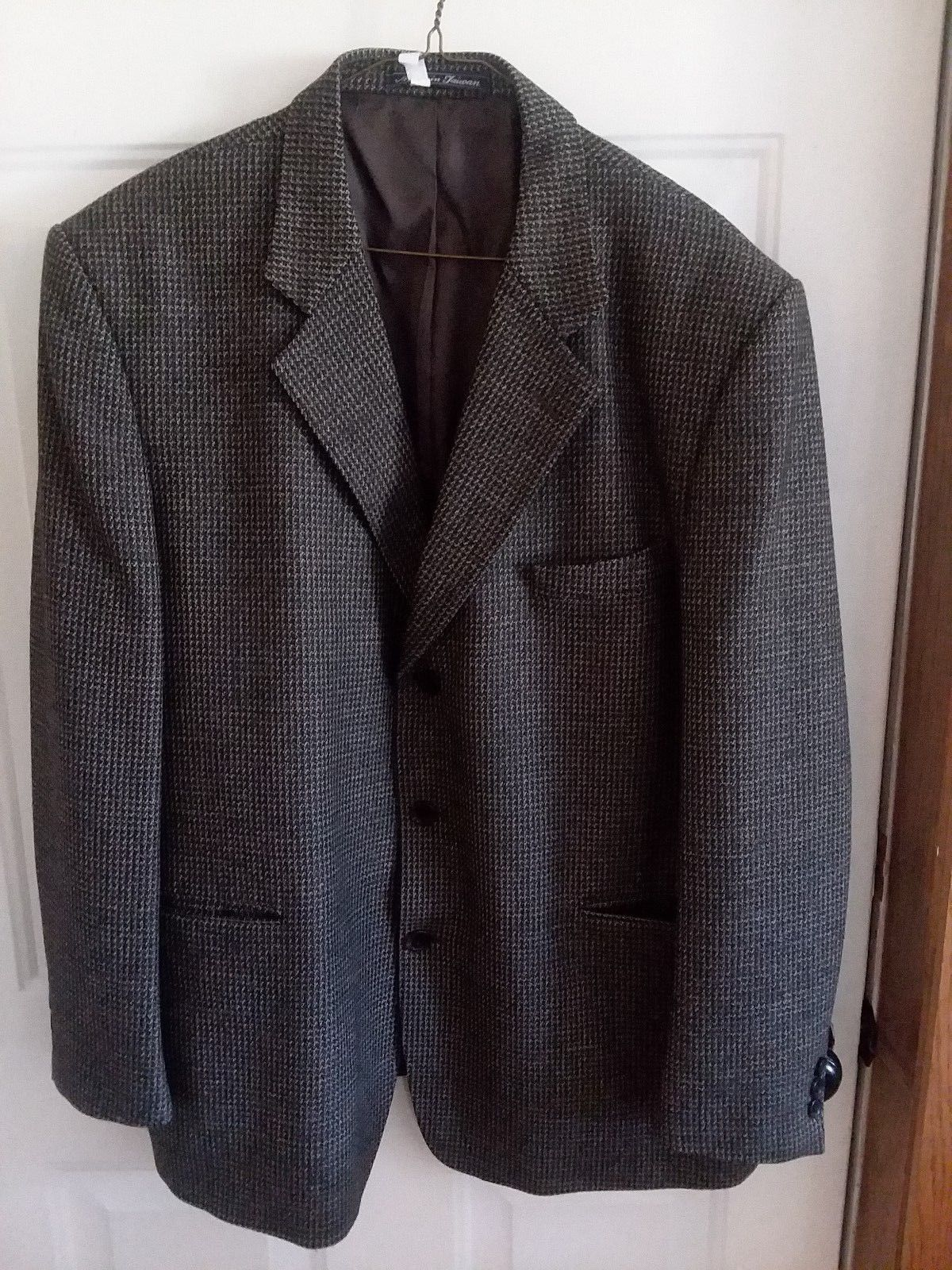 Joseph & Feiss Blazer Sports Black Gold small houndstooth size 48 R