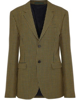Marni Woman Checked Wool-tweed Blazer Marigold Size 48