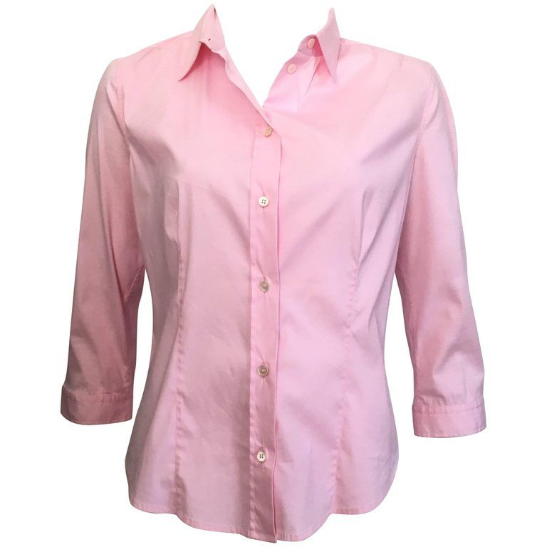 Prada Cotton Pink Button Up Blouse Size 10 / 48